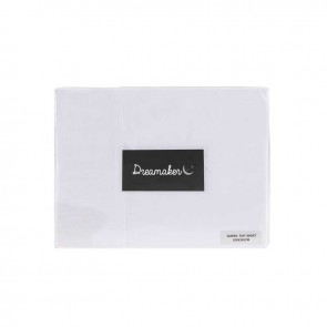 Microfibre Plain Dyed White MF Sheet Set