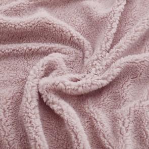 Pink Tedding Fleece Fitted Sheet Set
