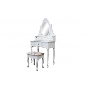Dressing Table 5 Drawers With Mirrors & Stool 03 by Living Good
