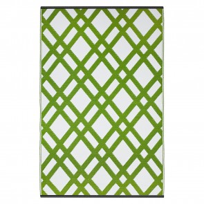 Green Dublin Plastic Outdoor Rug by FAB Rugs