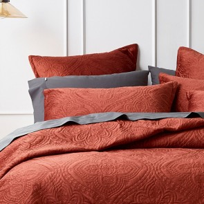 Dynasty Coverlet Set Terracotta by Bianca