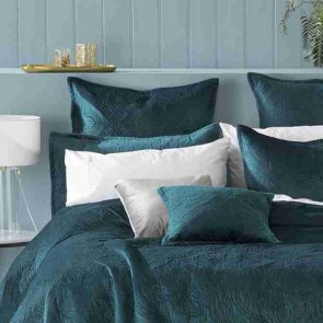 Dynasty Teal Queen/King Coverlet Set by Bianca