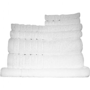 8pc Soft Egyptian Cotton Bath Towel Set in White