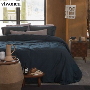 Earth Dark Blue Quilt Cover Set by VTWonen