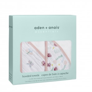 Essentials Floral Fauna 2-Pack Hooded Towel Set by Aden and Anais