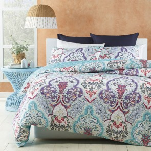 Tanaya Turquoise Queen Quilt Cover Set by Phase 2