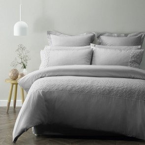 Nichola Silver Quilt Cover Set by Phase 2