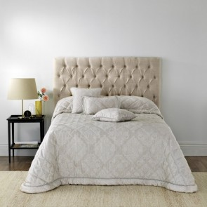 Eleanor Silver Double Bedspread by Bianca