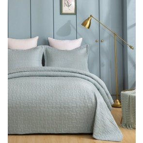 Embroidered Jade Bedspread by Classic Quilts