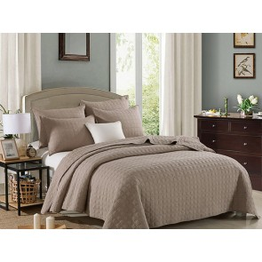Embroidered Rich Beige by Classic Quilts