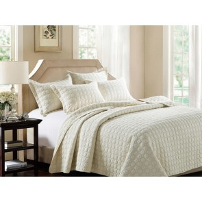 Embroidered Rich Cream by Classic Quilts