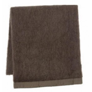 Espresso Mohair Blanket by St Albans