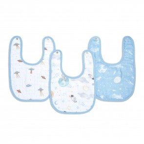 Space Explorers 3-Pack Snap Bibs by Aden and Anais