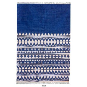 Fanore Blue Wool Rug by Rug Republic