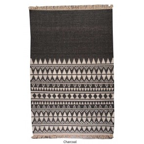 Fanore Charcoal Wool Rug by Rug Republic
