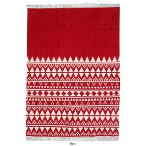 Fanore Red Wool Rug by Rug Republic