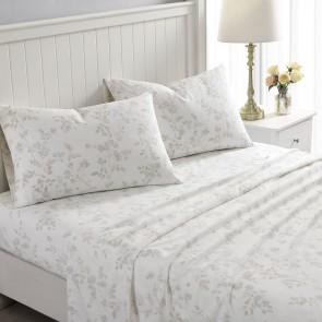 Fawna Flannelette Sheet Set in Soft Grey by Laura Ashley