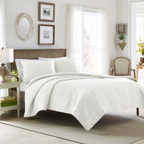 Felecity Printed Coverlet Set in White by Laura Ashley