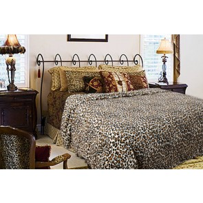 Printed Faux Fur King Quilt Cover by Kingtex