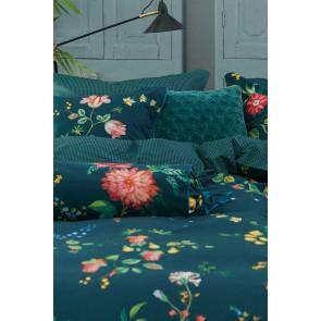 Fleur Grandeur Dark Blue Cotton Quilt Cover Set by Bedding House