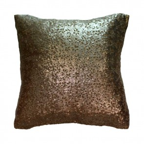 Floral Sequins Cushion by MM Linen