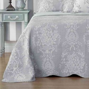 Florence Bedspread Set Grey by Bianca