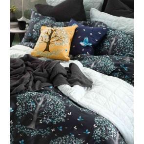 Flourish Quilt Cover Set Charcoal by MM Linen