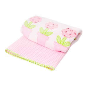Flowerpot Baby Bassinet  Comforter by Lullaby Linen