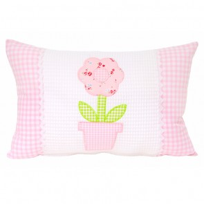 Flowerpot Applique Cushion by Lullaby Linen