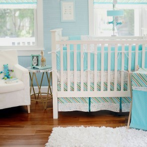 Follow Your Arrow in Aqua Crib Bumper by Petit
