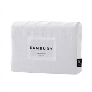 French Linen Sheet Set by Bambury - Ivory
