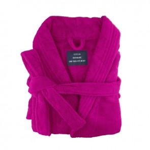 Fuchsia XLarge Size Egyptian Cotton Terry Toweling Bathrobe