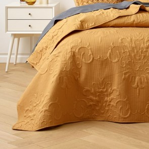 Gatwick Gold Bedspread Set by Bianca
