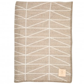 Geo Walnut White Throw by Scout