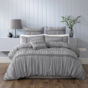 Giana Grey Quilt Cover Set by Bianca