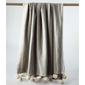 Gigi Natural Throw Rug by MM linen