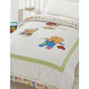 Gingerbread man Single Quilt Cover Set by Happy Kids