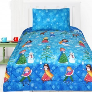 Snow Princess Double Quilt Cover Set by Happy Kids