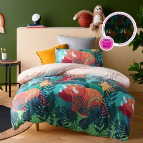 Glow in the Dark Big Dinosaur Quilt Cover Set by Happy Kids
