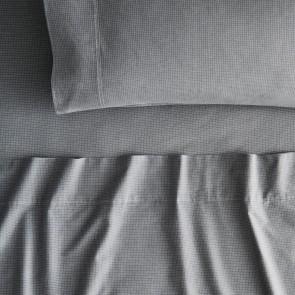 Grainger Iron Grey Flannelette Sheet Set by Sheridan