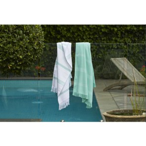 Green Cotton Turkish Towel by Accessorize