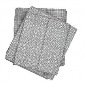 Cross Hatch Grey King Single Sheet Set by Scout