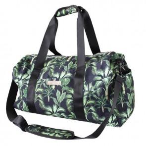 Gym Bag Vintage Black Palm by Escape To Paradise