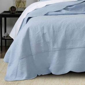 Hampton Single Bedspread Set Provincial Blue by Bianca