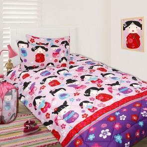 China Doll Double Comforter Set by Happy Kids