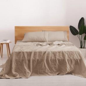 Hazelnut Natural Home 100% European Flax Linen Sheet Set