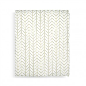 Herringbone Birch King Fitted Sheet Set  by Scout