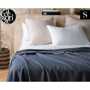 Herringbone Blue Wool Blanket by Accessorize