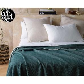 Herringbone Green Wool Blanket by Accessorize