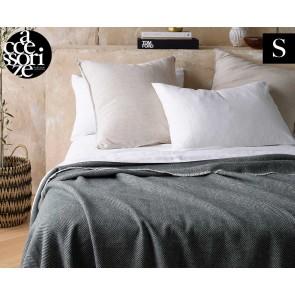 Herringbone Grey Wool Blanket by Accessorize